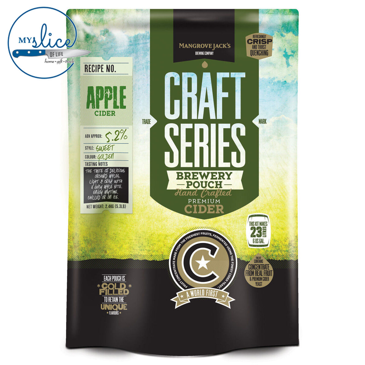 Mangrove Jack's Craft Series Apple Cider Pouch - 2.4kg - Home Brew