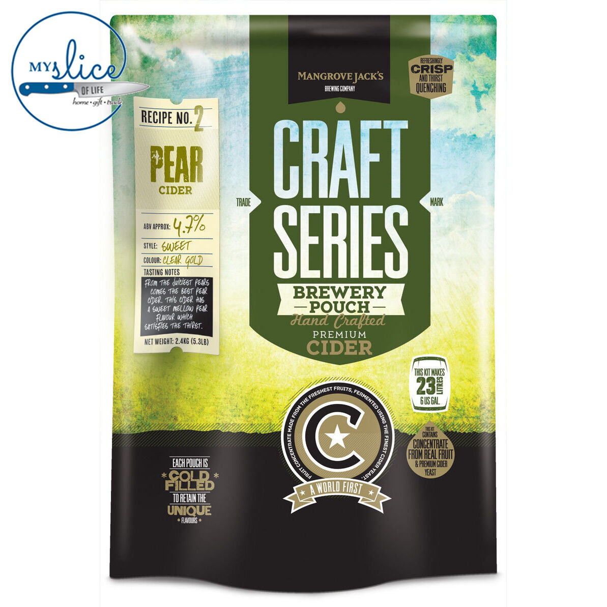 Mangrove Jack's Craft Series Pear Cider Pouch - 2.4kg - Home Brew