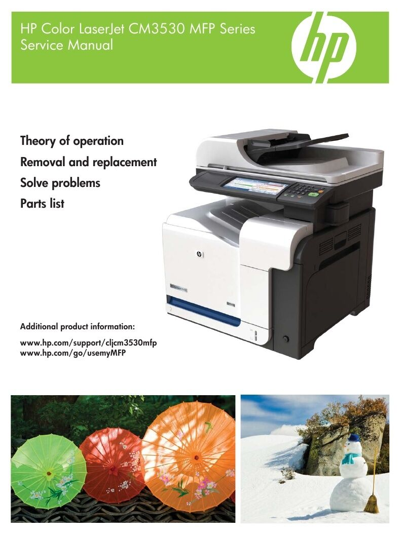HP Color LaserJet CM3530 Service Manual(Parts & Diagrams) 1 of 1FREE  Shipping ...