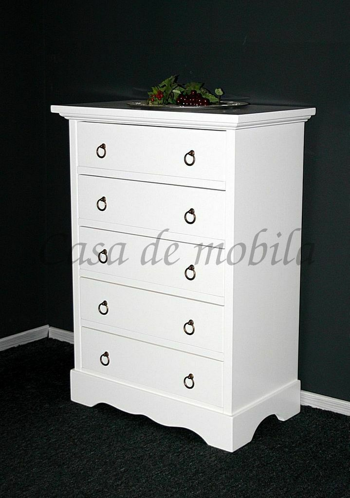 anrichte kommode 5 schubladen flur schrank wei. Black Bedroom Furniture Sets. Home Design Ideas