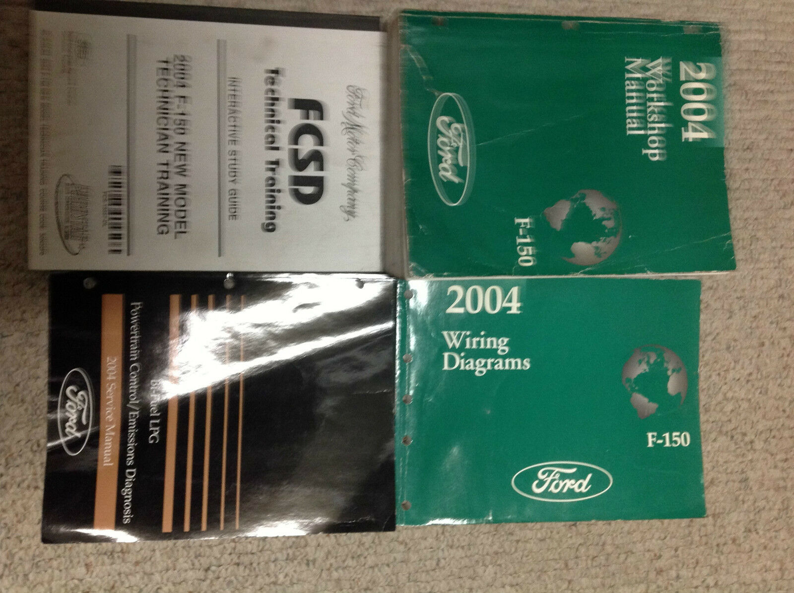 2004 FORD F150 F-150 TRUCK Service Shop Repair Manual Set OEM W EWD + 1 of 1Only  1 available ...