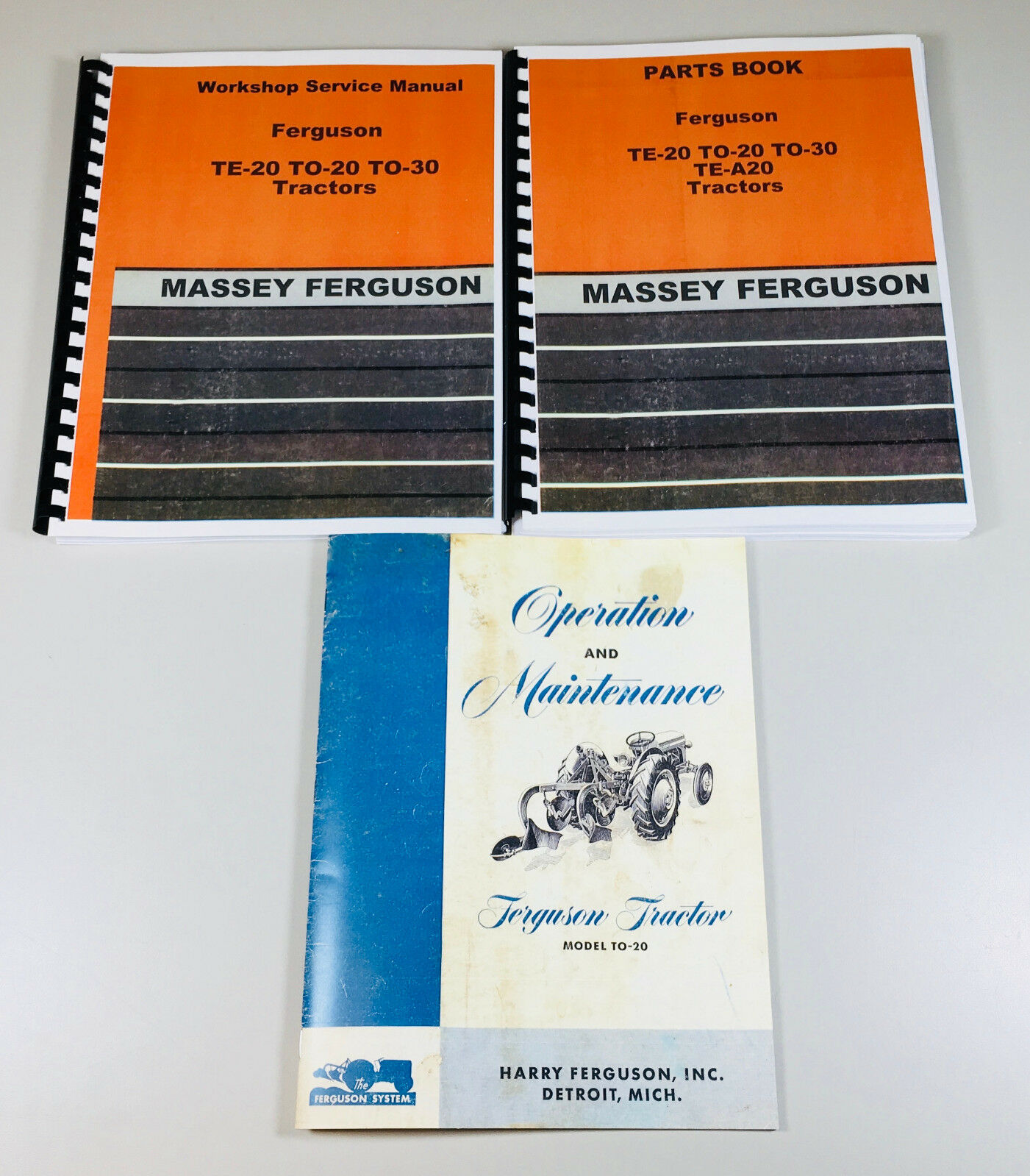 Set Massey Ferguson To-20 Tractor Service Repair Owners Operators Parts  Manuals 1 of 12FREE Shipping ...