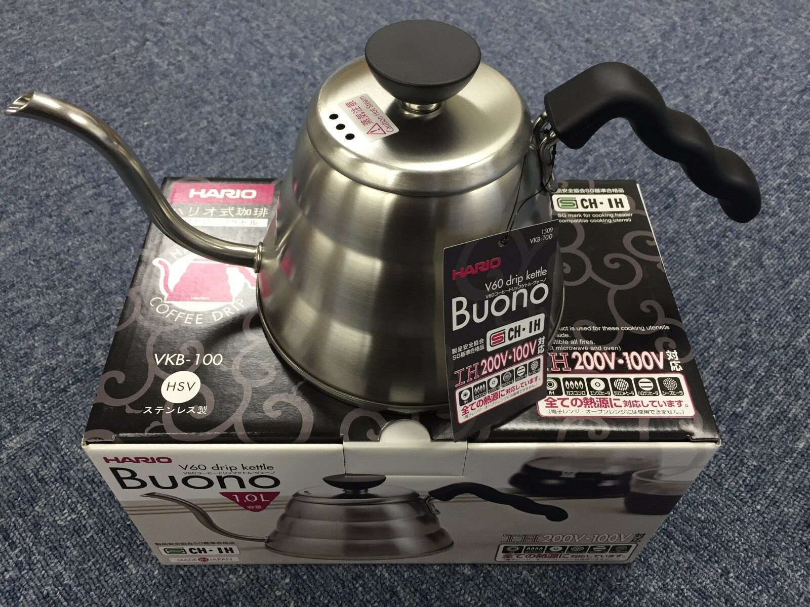 Hario V60 Buono Coffee Drip Kettle 1000ml Vkb 100hsv 100 Made Server Kit Vcsd 02 R In 1 Of 12free Shipping