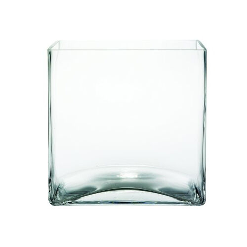 6 Pack 127cm 5 Inch Wedding Centerpiece Clear Square Glass Vase