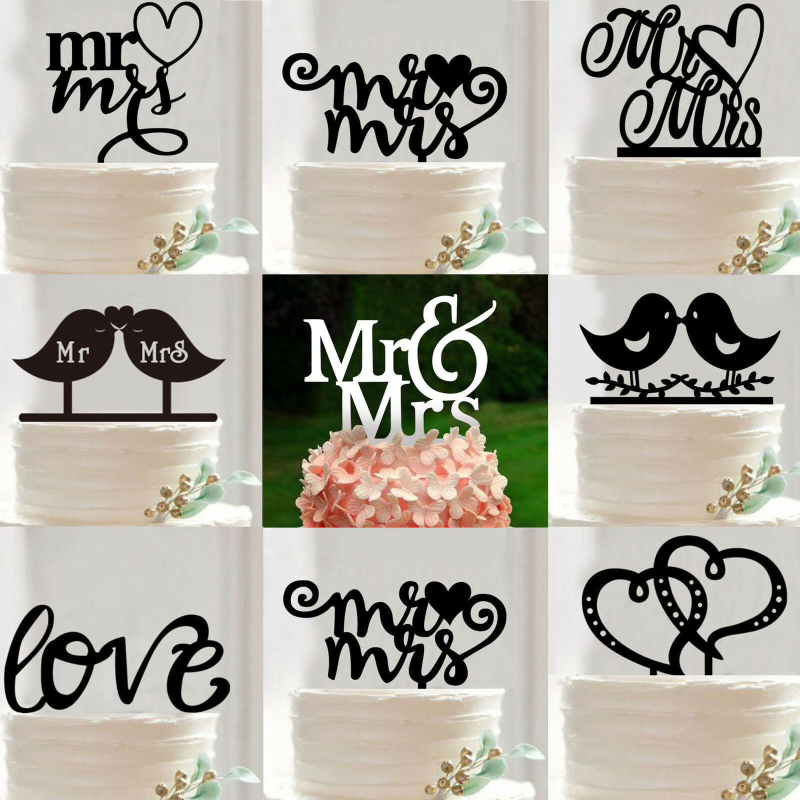 Mr And Mrs Cake Topper Australia