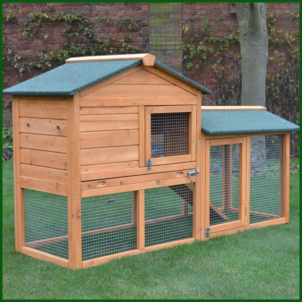 Rabbit hutch guinea pig hutches run runs large 2 tier for Free guinea pig hutch