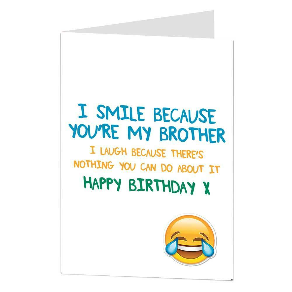Happy Birthday Greetings Card Funny Humour Cheeky Joke Brother