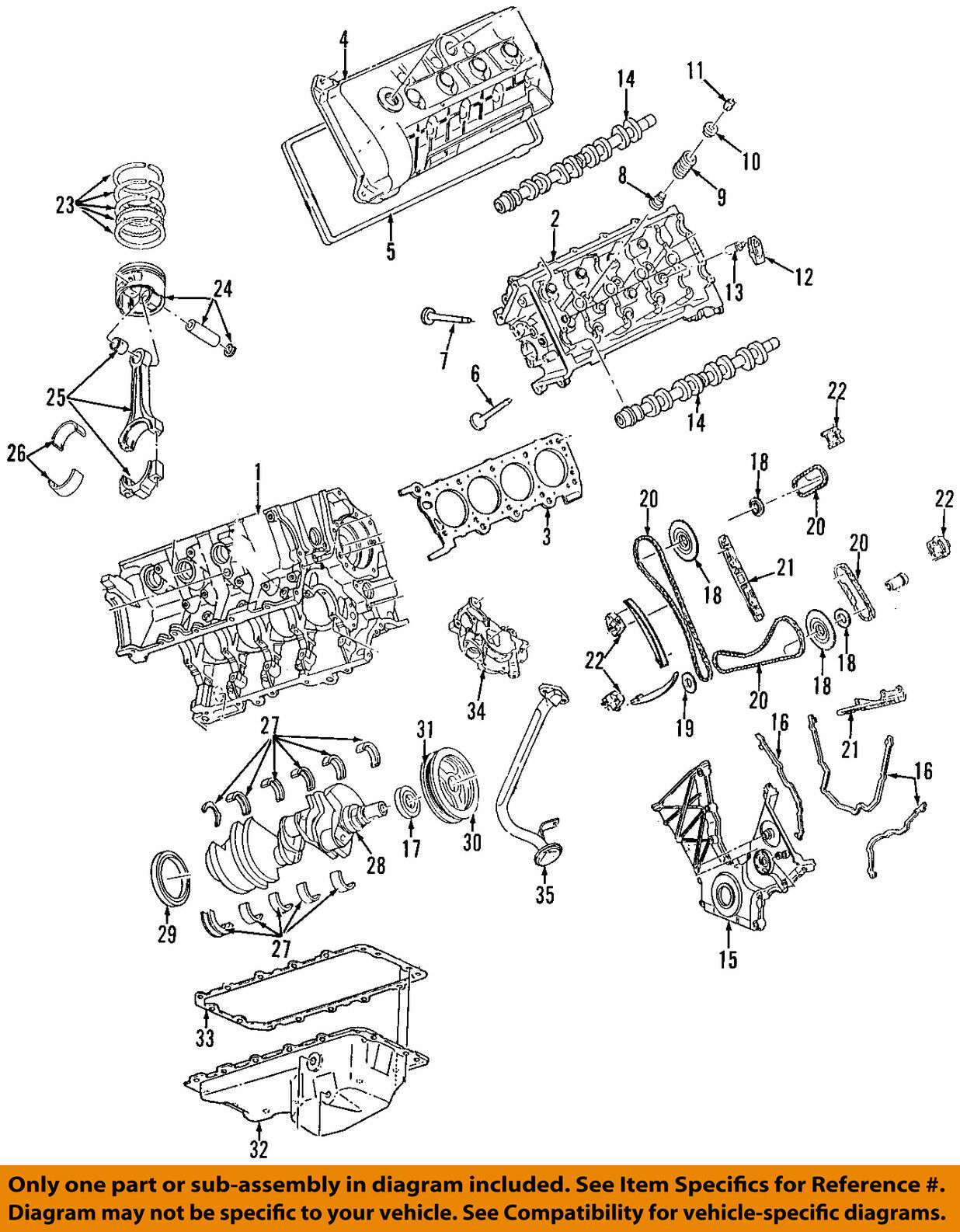 Lincoln Ford Oem 95 02 Continental Engine Timing Chain Guide 1994 Diagram 1 Of 1only Available
