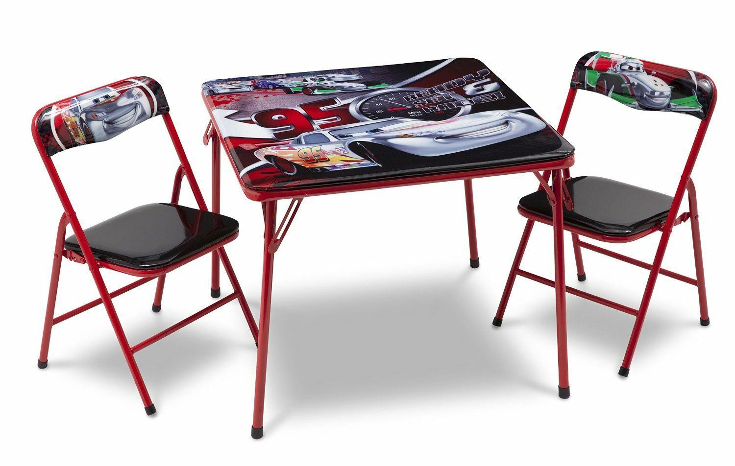 disney cars childrens metal table and two chairs set kids