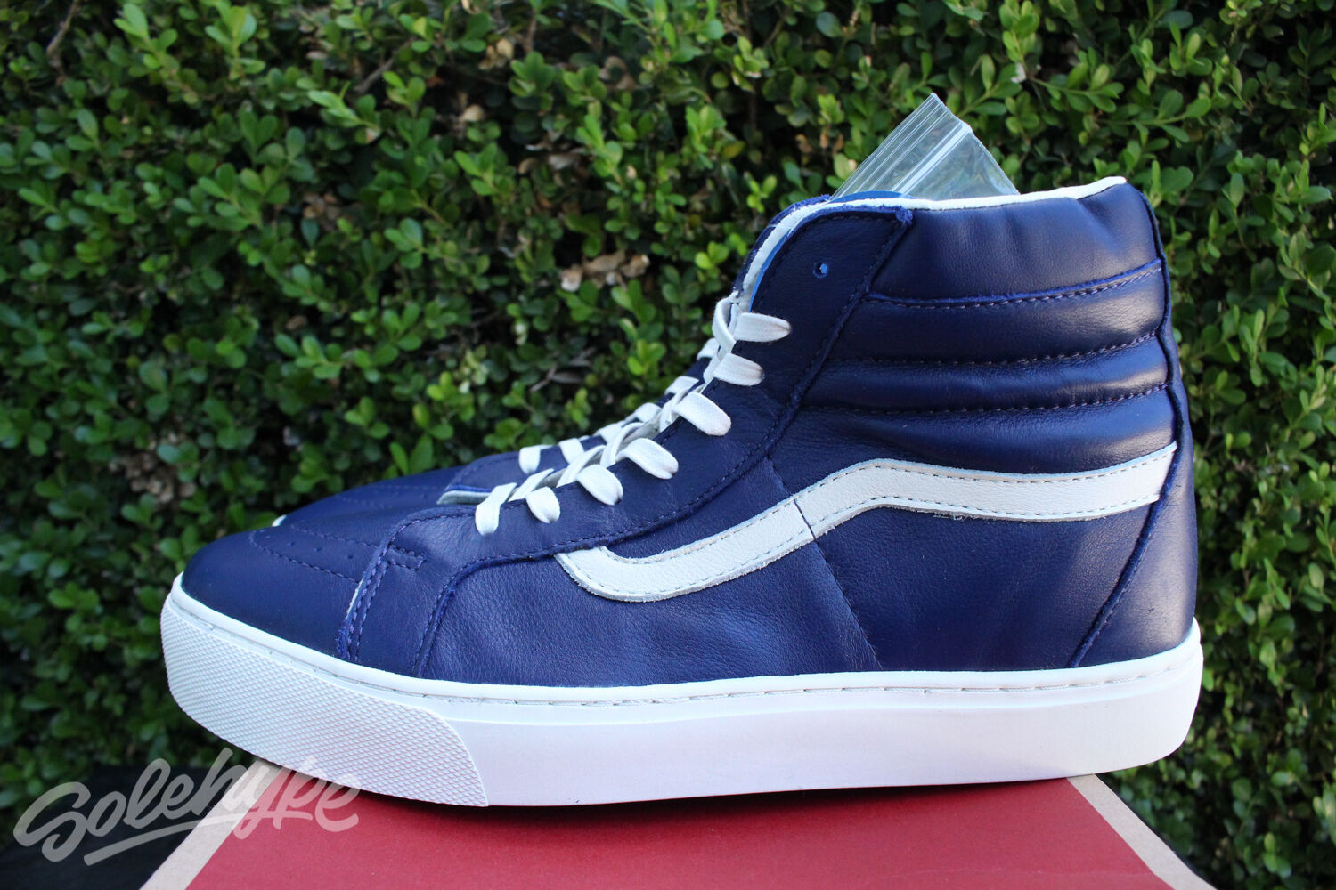 cd11529ebbbf8f Vans Ca Sk8 Hi Cup Leather Sz 10.5 Blue Whisper White Vn 0177Gj4 1 of  12Only 1 available See More