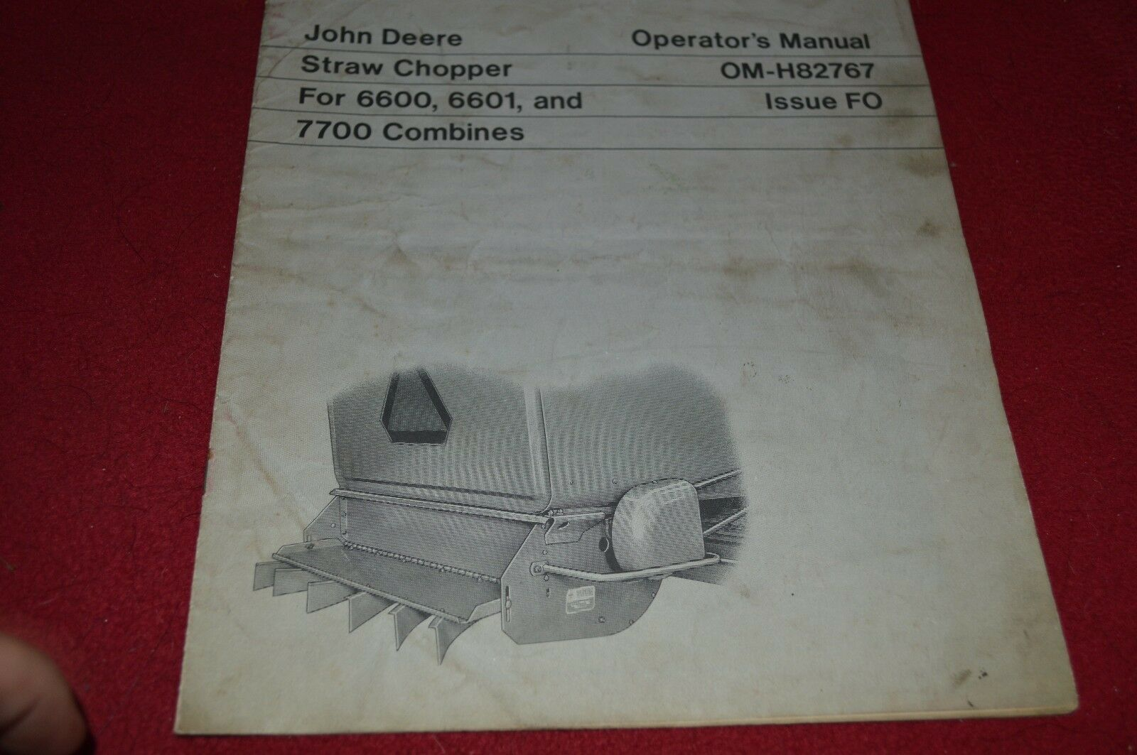 John Deere Straw Chopper For 6600 7700 Combine Operator's Manual DCPA4 1 of  1Only 1 available ...