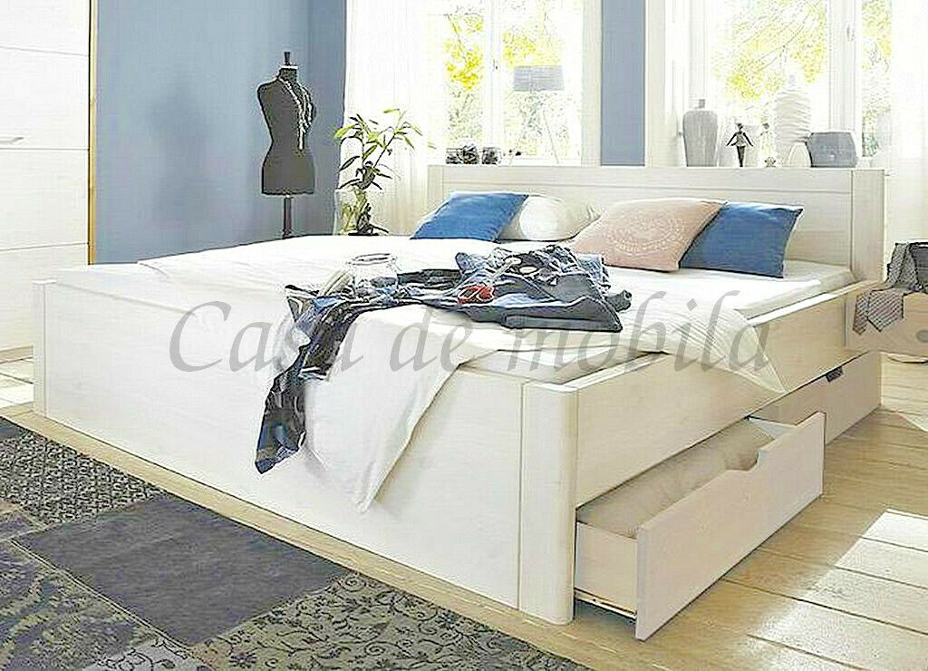 doppelbett mit 4 schubladen 180x200 xl h he 45cm bett. Black Bedroom Furniture Sets. Home Design Ideas
