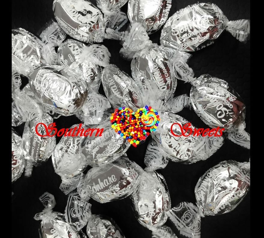 1Kg Coconut Caramel Toffees Silver Lollies Christmas Xmas Candy 143Ct