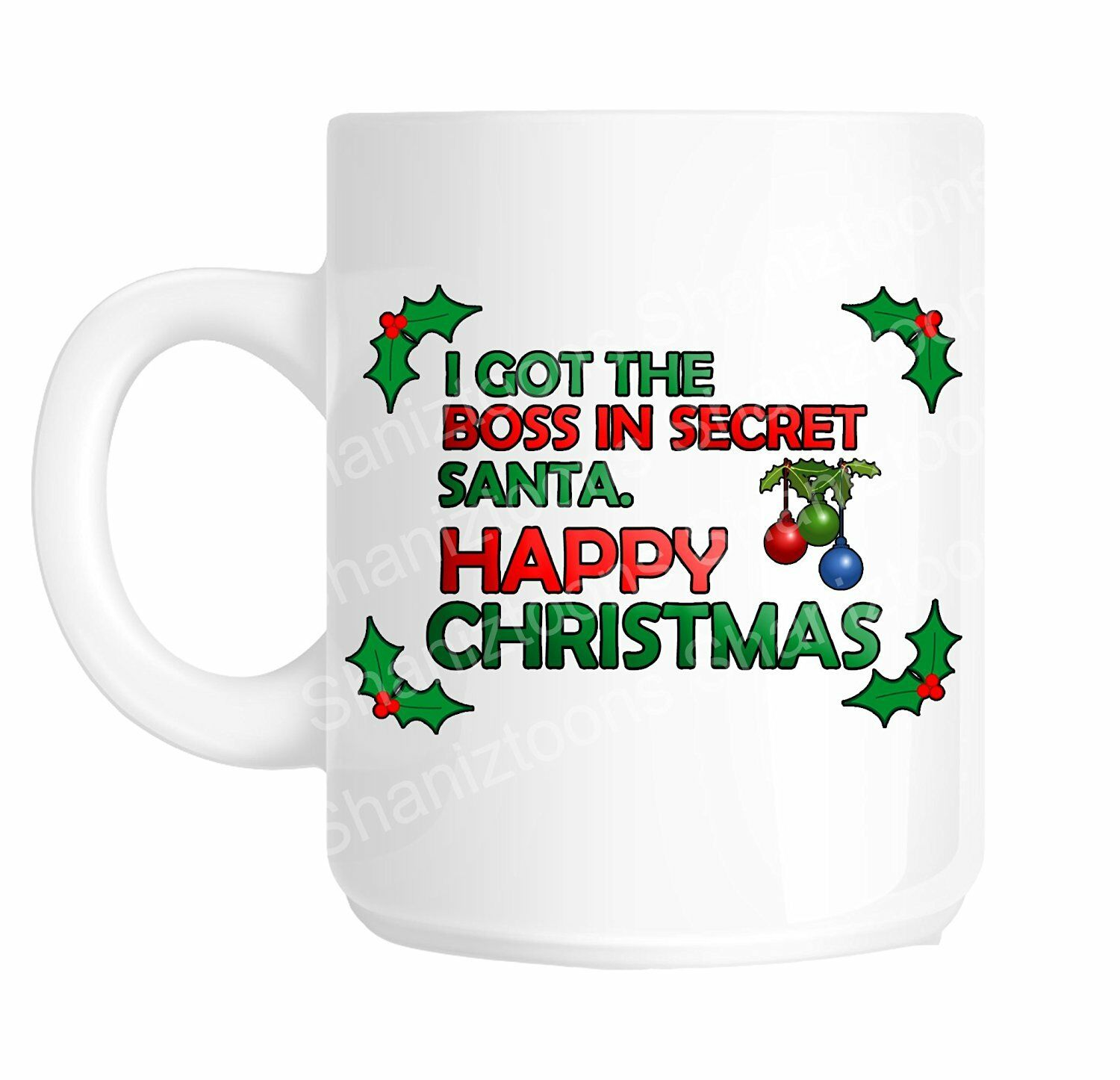 secret santa christmas boss funny office joke gift mug shan760 1 of 1free shipping