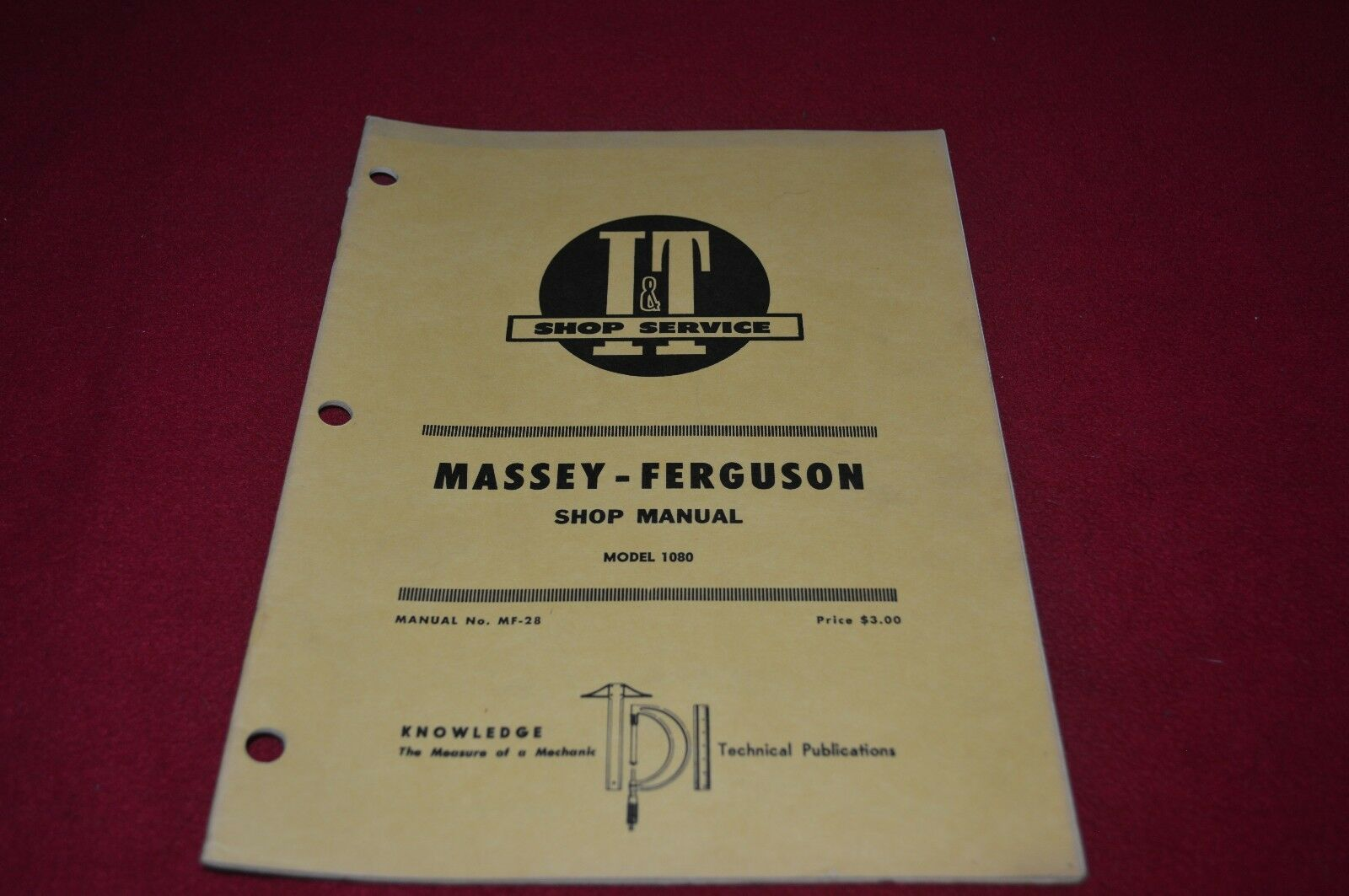 Massey Ferguson 1080 Tractor I&T Shop Manual DCPA6 1 of 1Only 1 available  ...