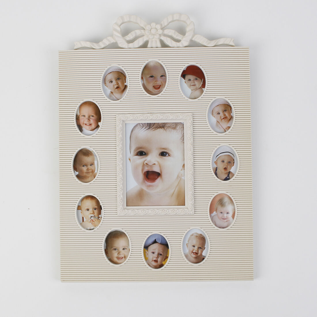 BABY MULTI PHOTO Picture Frame My First Year 12 Month Slots - $25.00 ...
