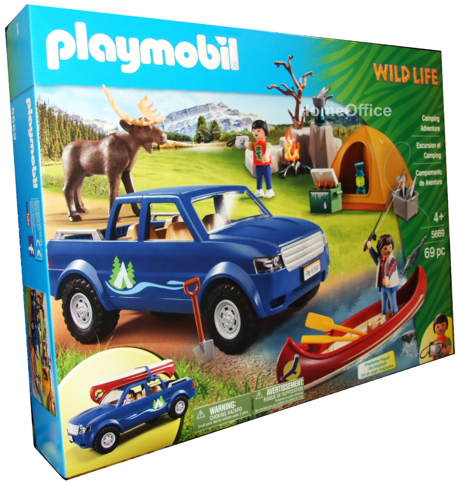 playmobil 5669 wild life camping car canoe accessories child toy new picclick uk. Black Bedroom Furniture Sets. Home Design Ideas
