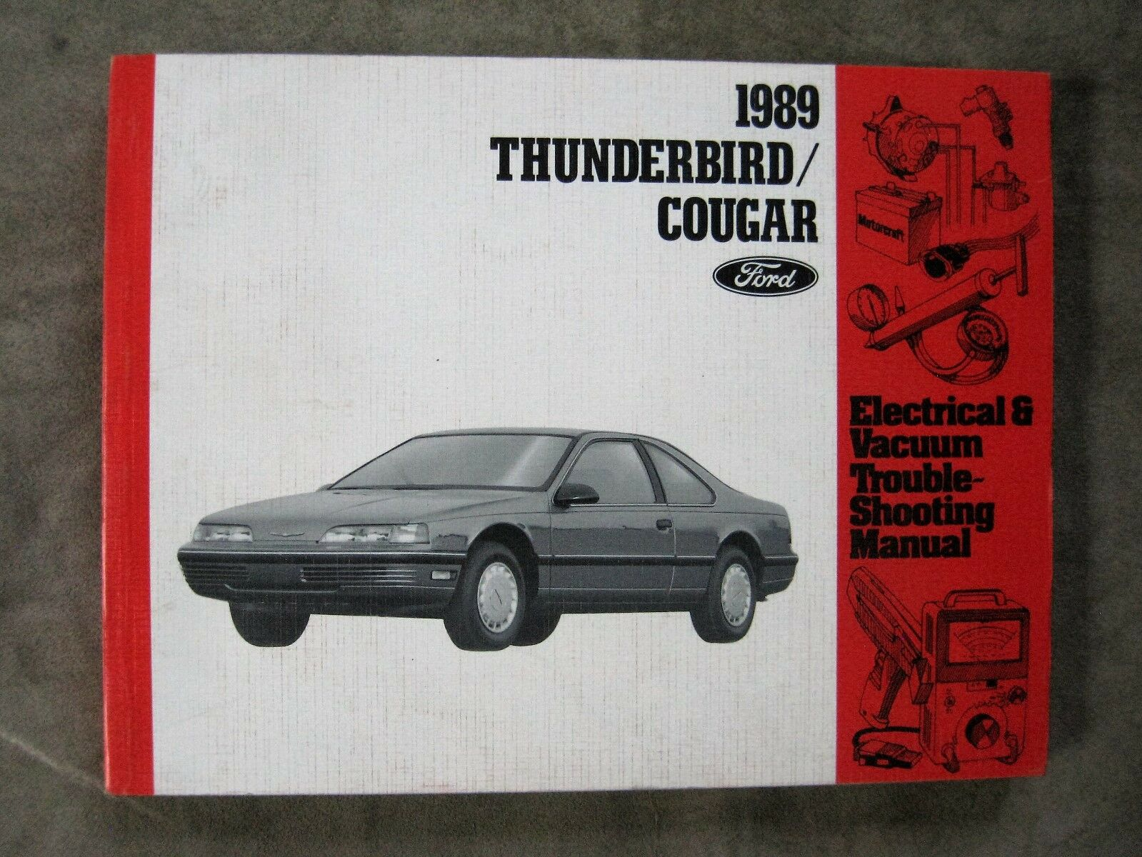 1989 Ford Thunderbird Cougar Wiring Diagram Electrical Vacuum Manual 1 of  1Only 1 available ...