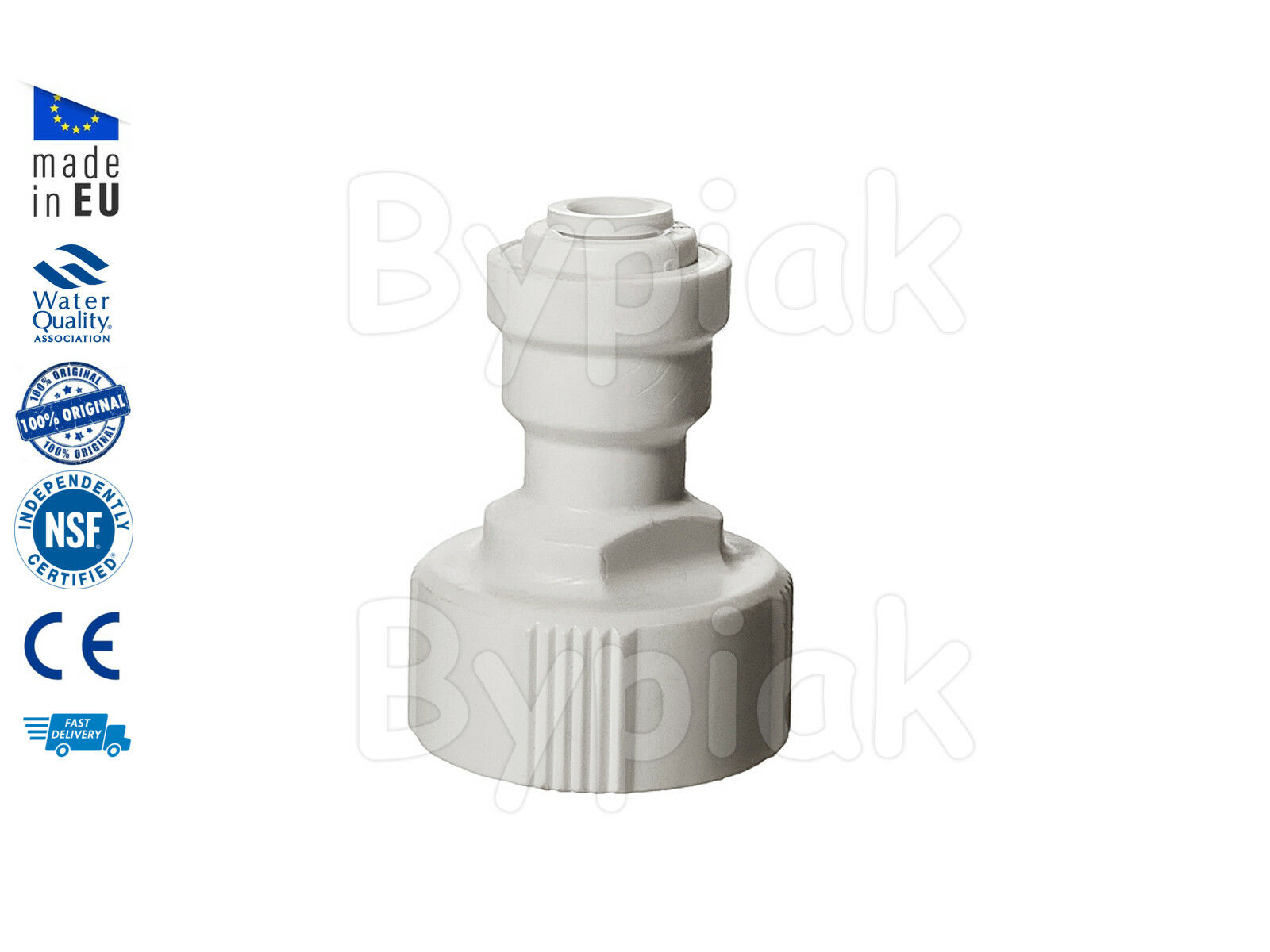 "New 3/4"" BSP to 1/4"" Push Fit Standard UK Garden Tap Adaptor Connector"