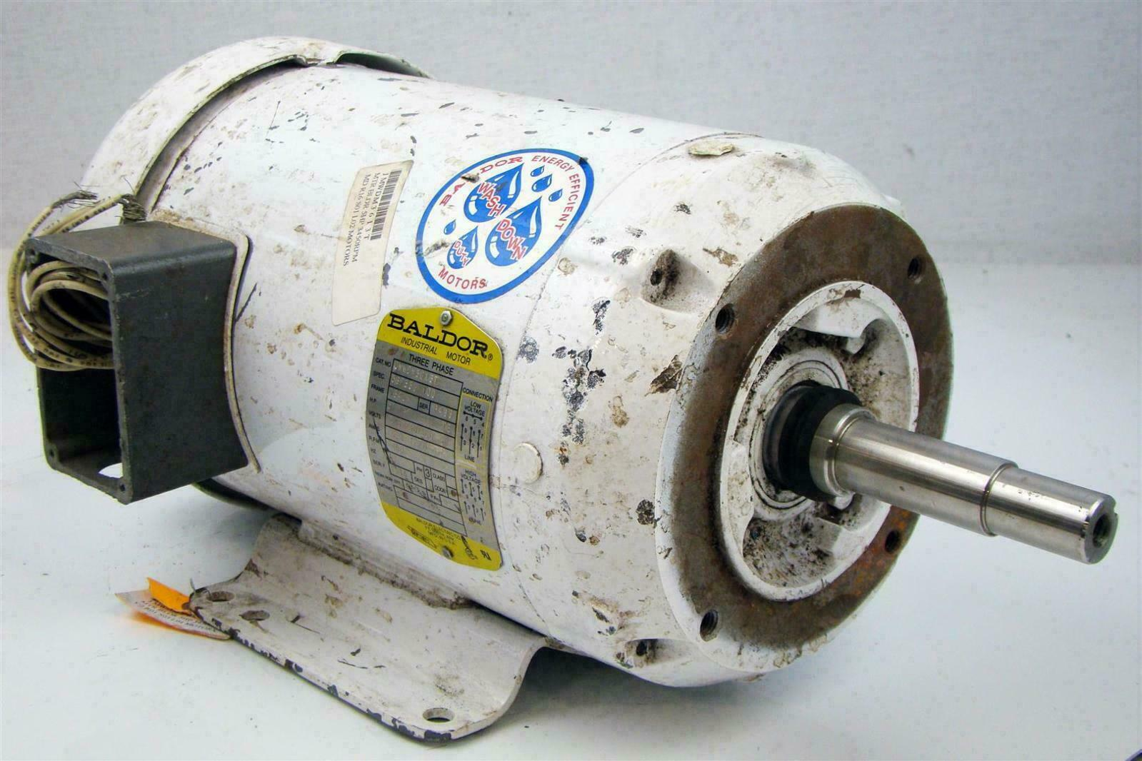 Baldor Electricric Motor 5hp 230 460v Washdown Duty 3450rpm Motors 1 Of 12only Available