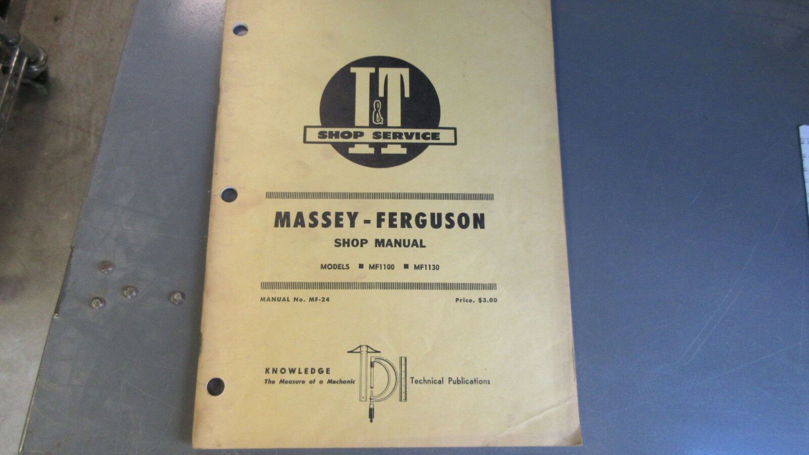 Massey Ferguson 1100, 1130 Tractor I&t Shop Service Manual # Mf-24 1 of  2Only 1 available Massey Ferguson 1100 ...