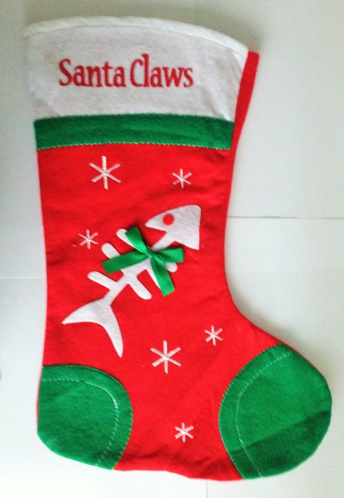 CAT CHRISTMAS STOCKING - For All Good Boys & Girls - Same Day Despatch