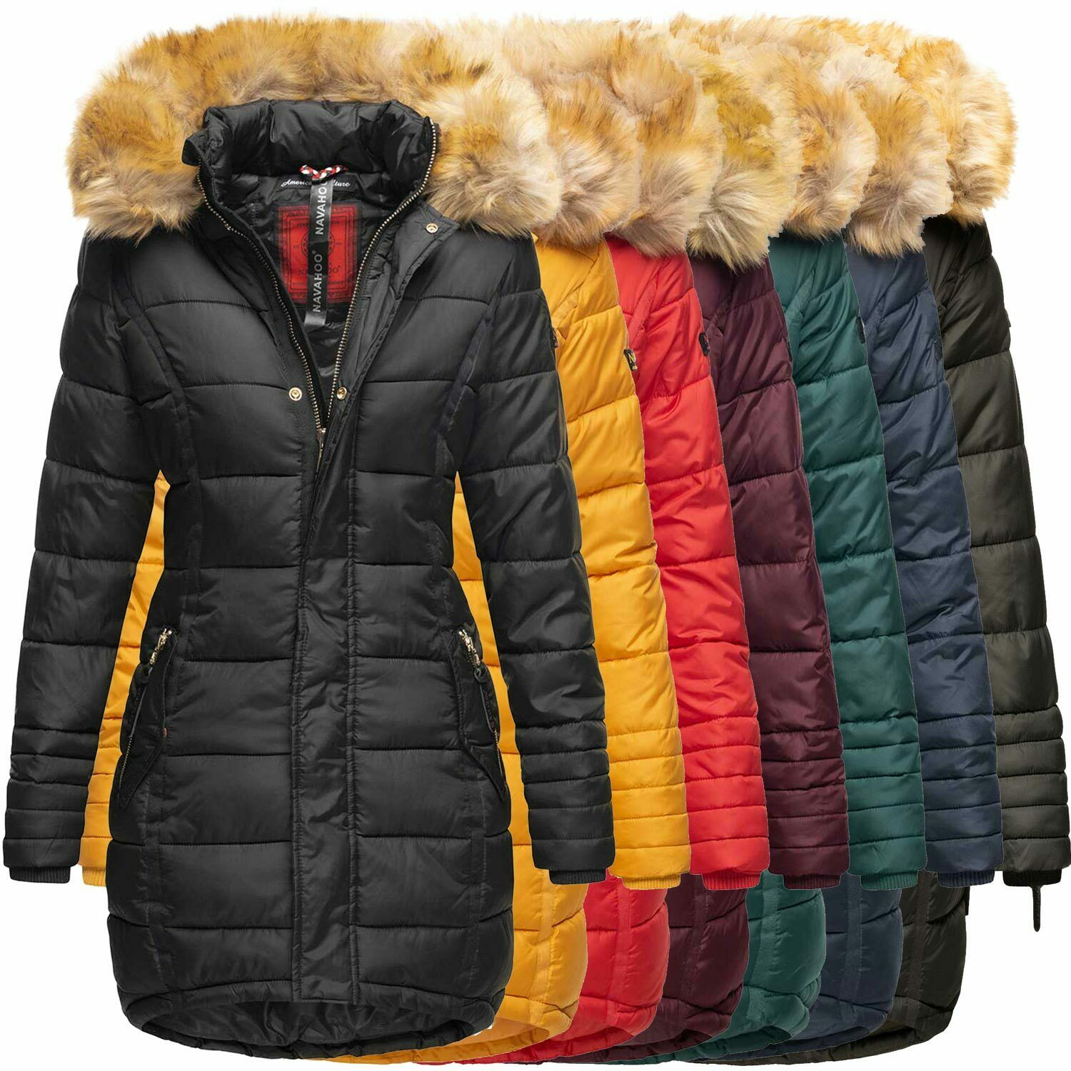 navahoo papaya damen winter jacke steppjacke mantel parka gesteppt warm b374 eur 44 90. Black Bedroom Furniture Sets. Home Design Ideas
