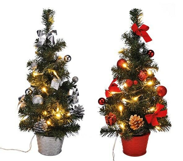led weihnachtsbaum k nstlicher tannenbaum christbaum tanne deko beleuchtet 45 cm eur 14 79. Black Bedroom Furniture Sets. Home Design Ideas
