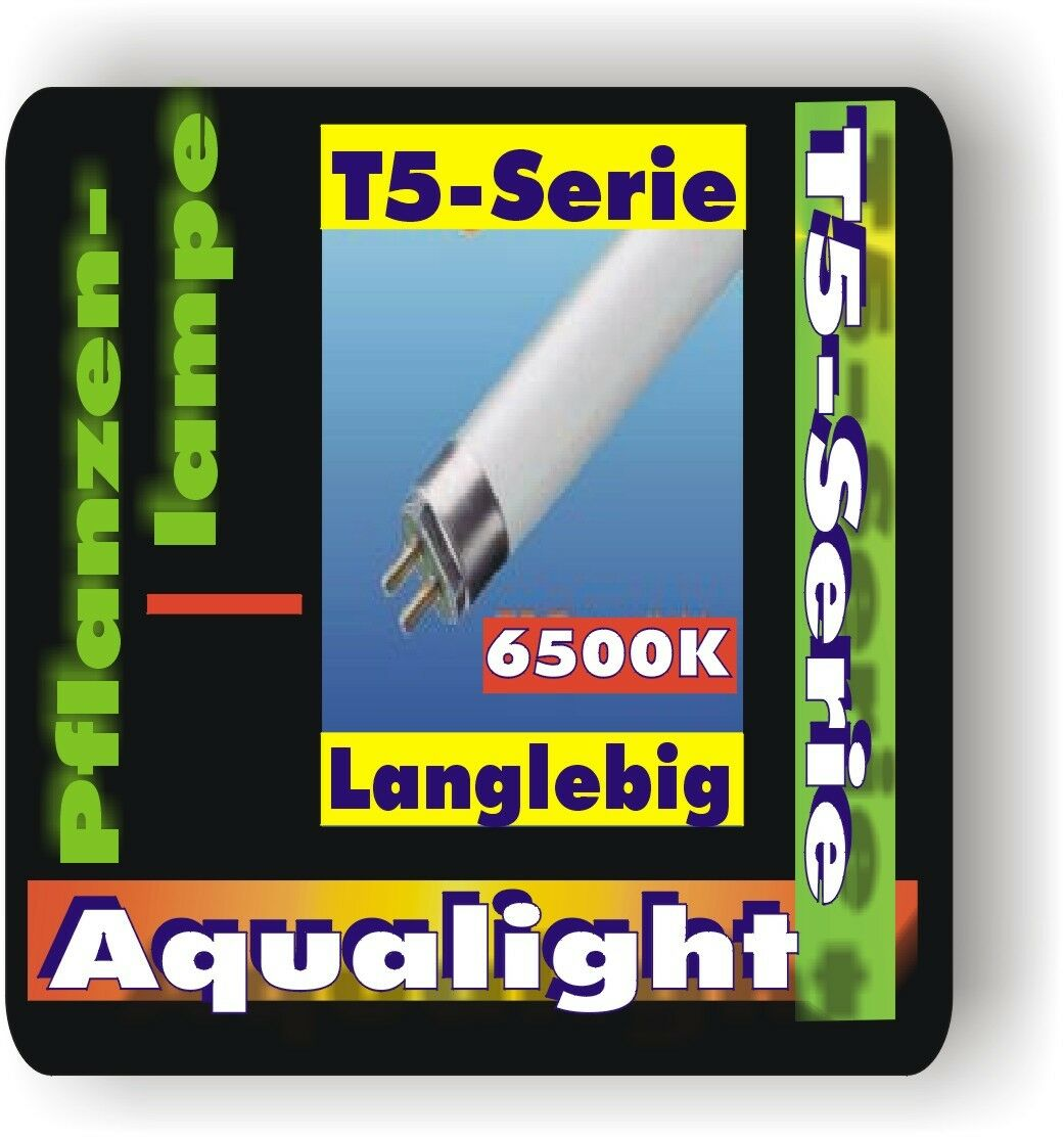 Aqualight T5 Tube fluorescent 2x f Plantes 6500K 6Watt