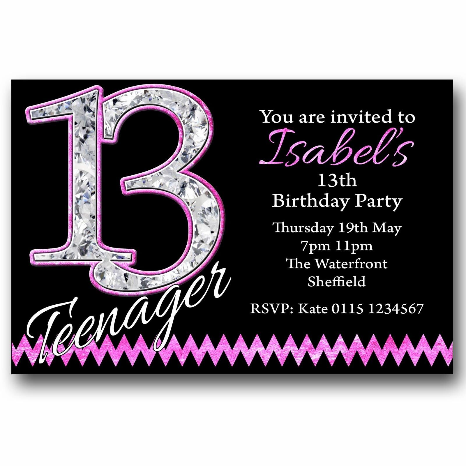 10 personalised boys girls teenager 13th birthday party 10 personalised boys girls teenager 13th birthday party invitations t216 1 of 1free shipping see more filmwisefo