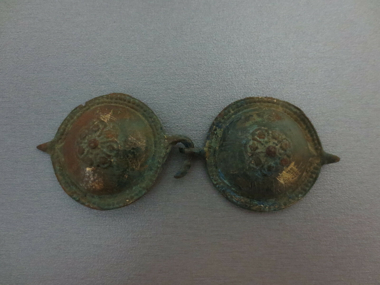 WOW!Gorgeous Antique small Buckle 18th Century GOLD-PLATED GILDED EXTREMELY RARE