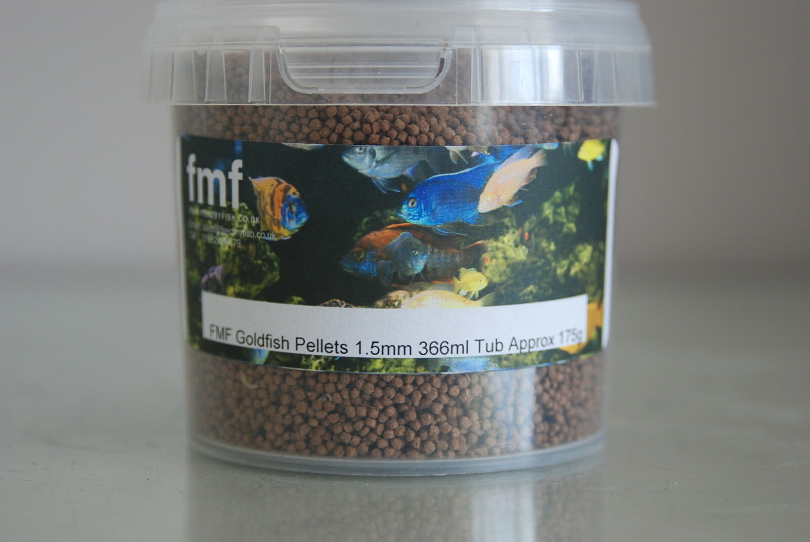 FMF Goldfish Pellets 1.5 mm Pellets 366ml Tub Approx 175g For All Coldwater Fish