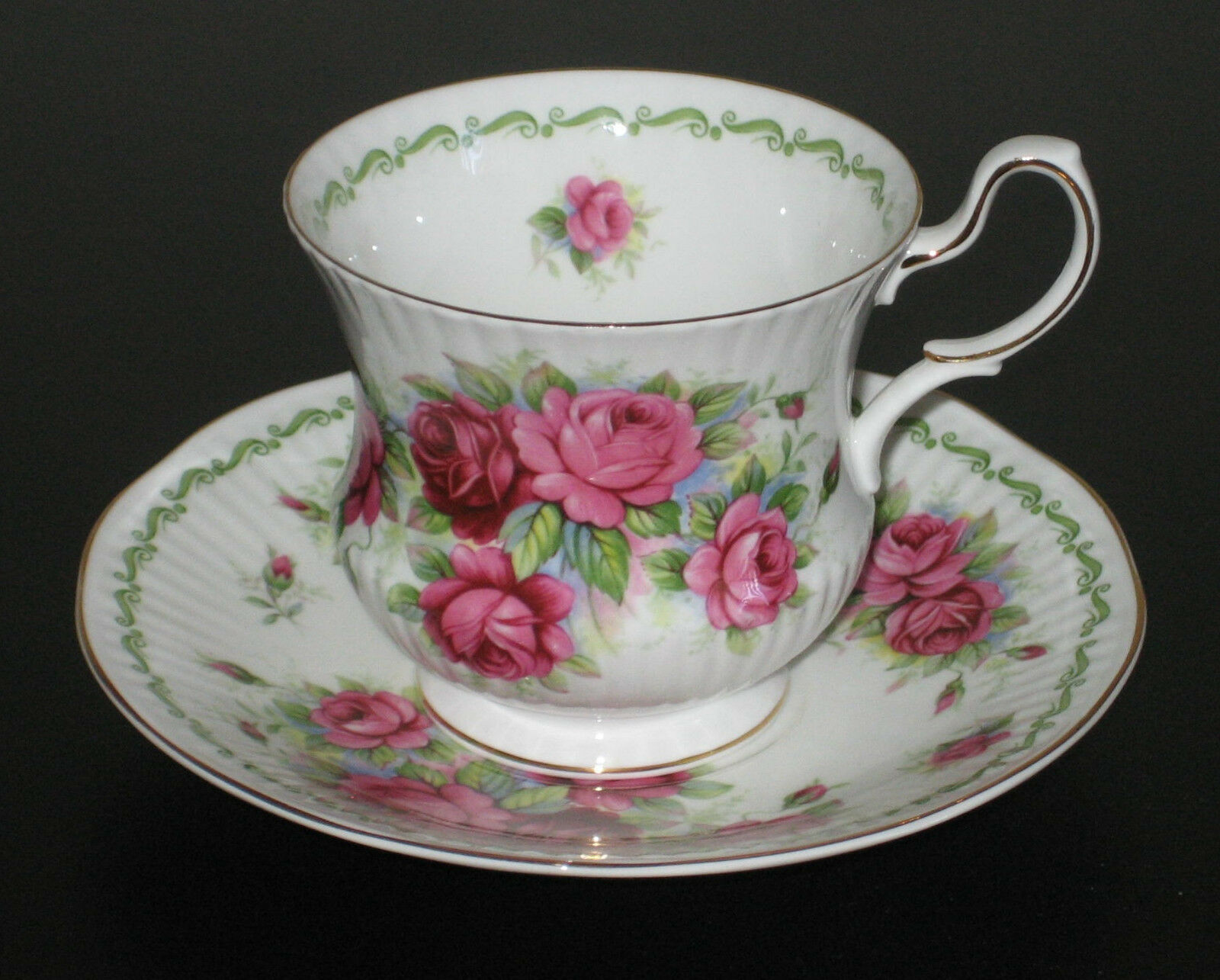 queens rosina fine bone china england cup saucer special flowers june rose picclick uk. Black Bedroom Furniture Sets. Home Design Ideas