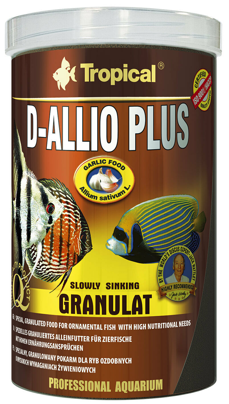 Tropical D-ALLIO Plus Granulat 1000 ml, Fischfutter, Diskus, mit Knoblauch
