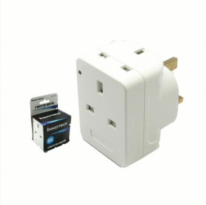 3 WAY SOCKET Household Multi Plug Fused Adapter Uk Mains 13Amp 240V ...