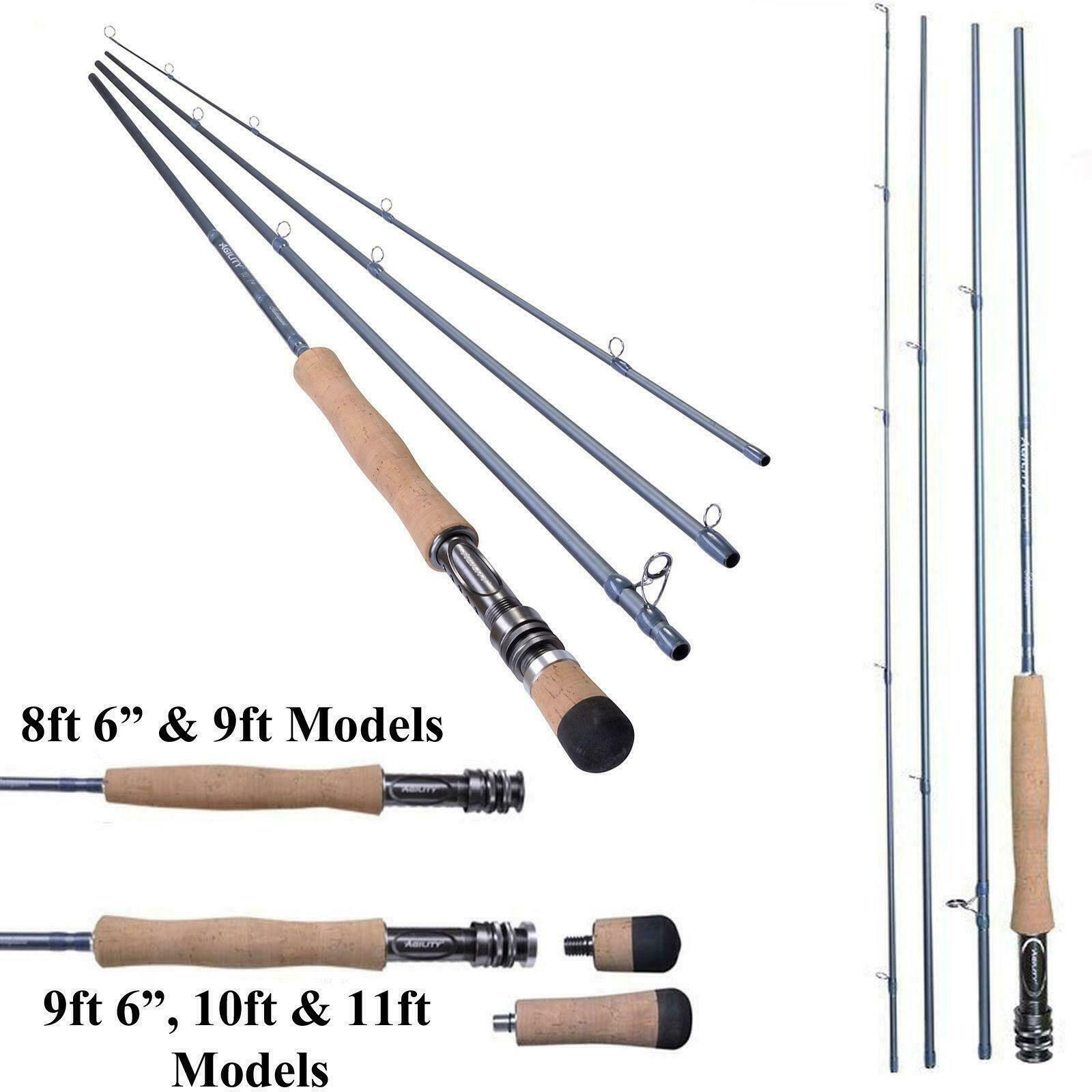 New shakespeare agility 2 4 pce travel fly rod with for Fishing rod travel tubes