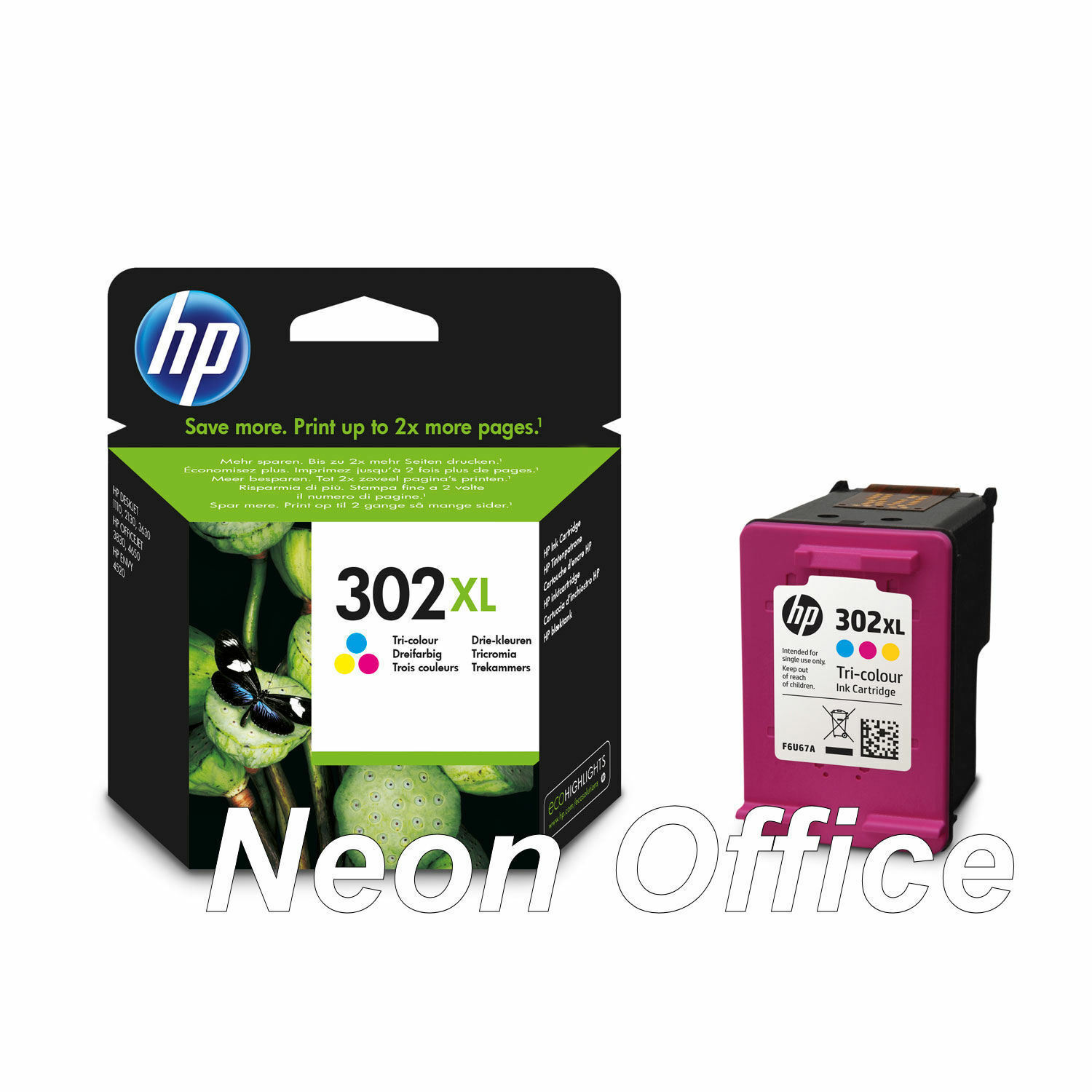 Original HP 302XL Colour Ink Cartridge For DeskJet 2130 Inkjet Printer 1 of 3 ly 2 available Original HP 302XL Colour Ink Cartridge For DeskJet 2130