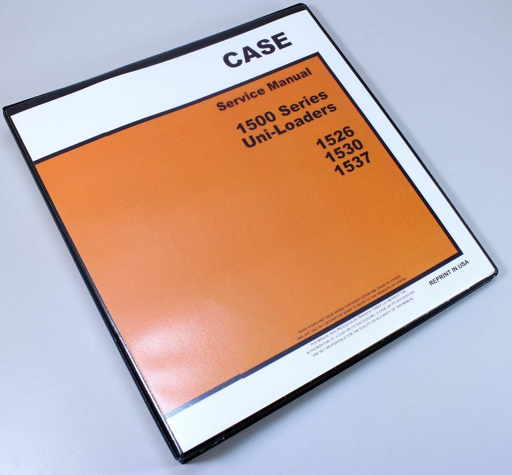 Case 1530 1537 Uni-Loader Skid Steer Service Technical Manual Repair Shop  Book 1 of 12FREE Shipping ...