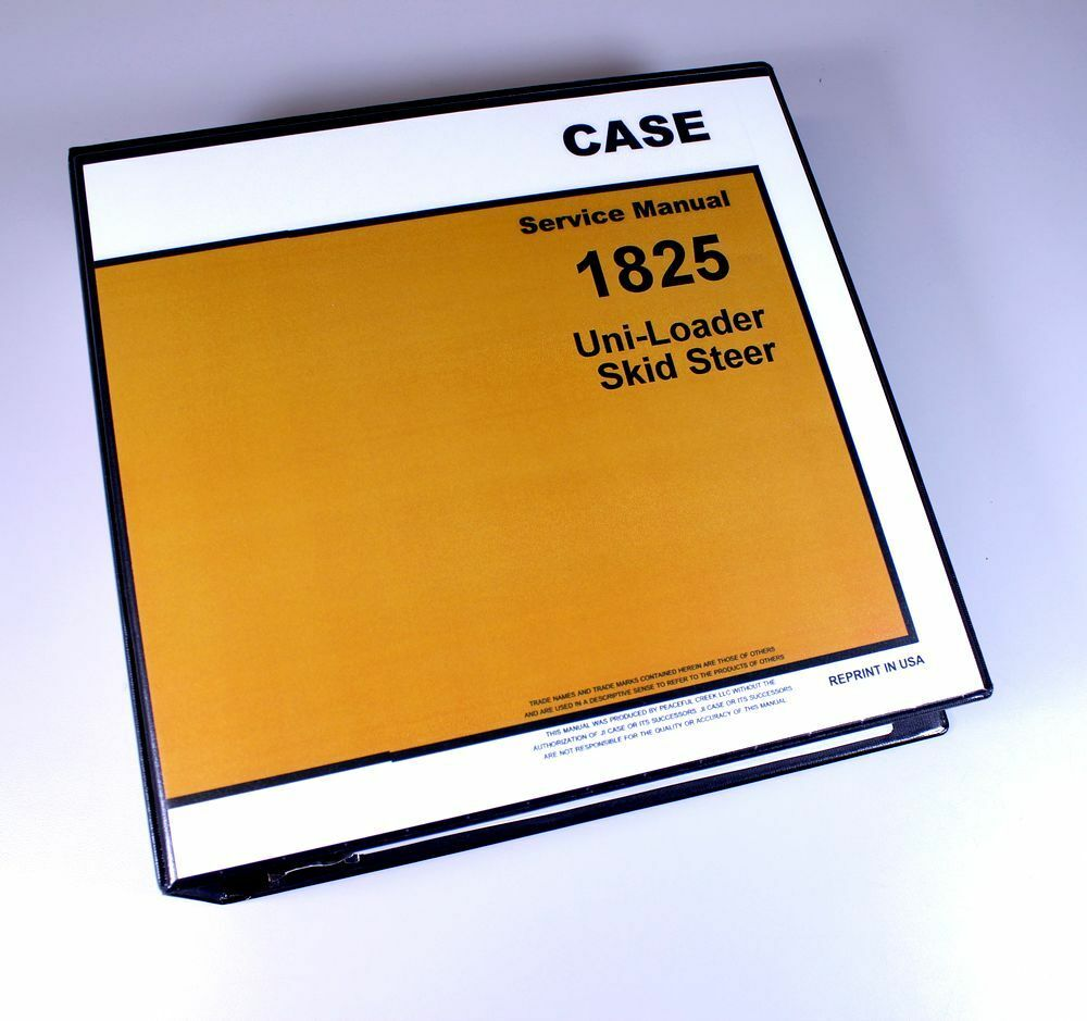 Case 1825 Uni Loader Skid Steer Service Repair Manual Technical Shop Book  Ovhl 1 of 11FREE Shipping ...