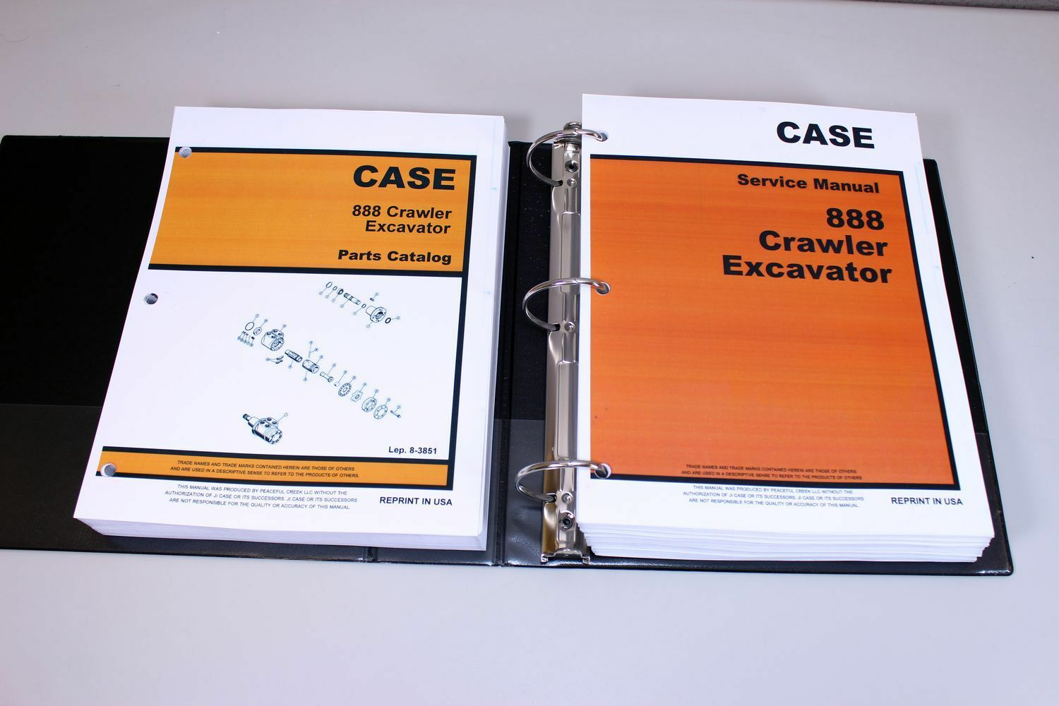 1 of 12FREE Shipping Case 888 Crawler Excavator Service Parts Catalog Manual  Shop Book Overhaul Set