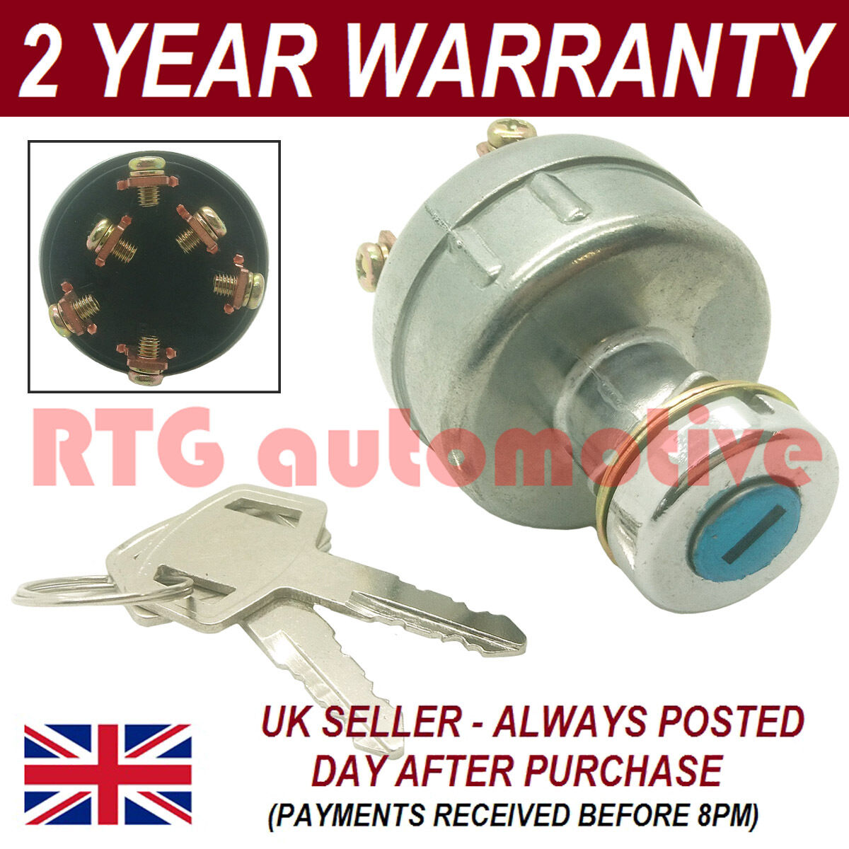 Ignition Starter Switch For Yanmar Digger Excavator Wiring Diagram Instructions 1 Of 1free Shipping