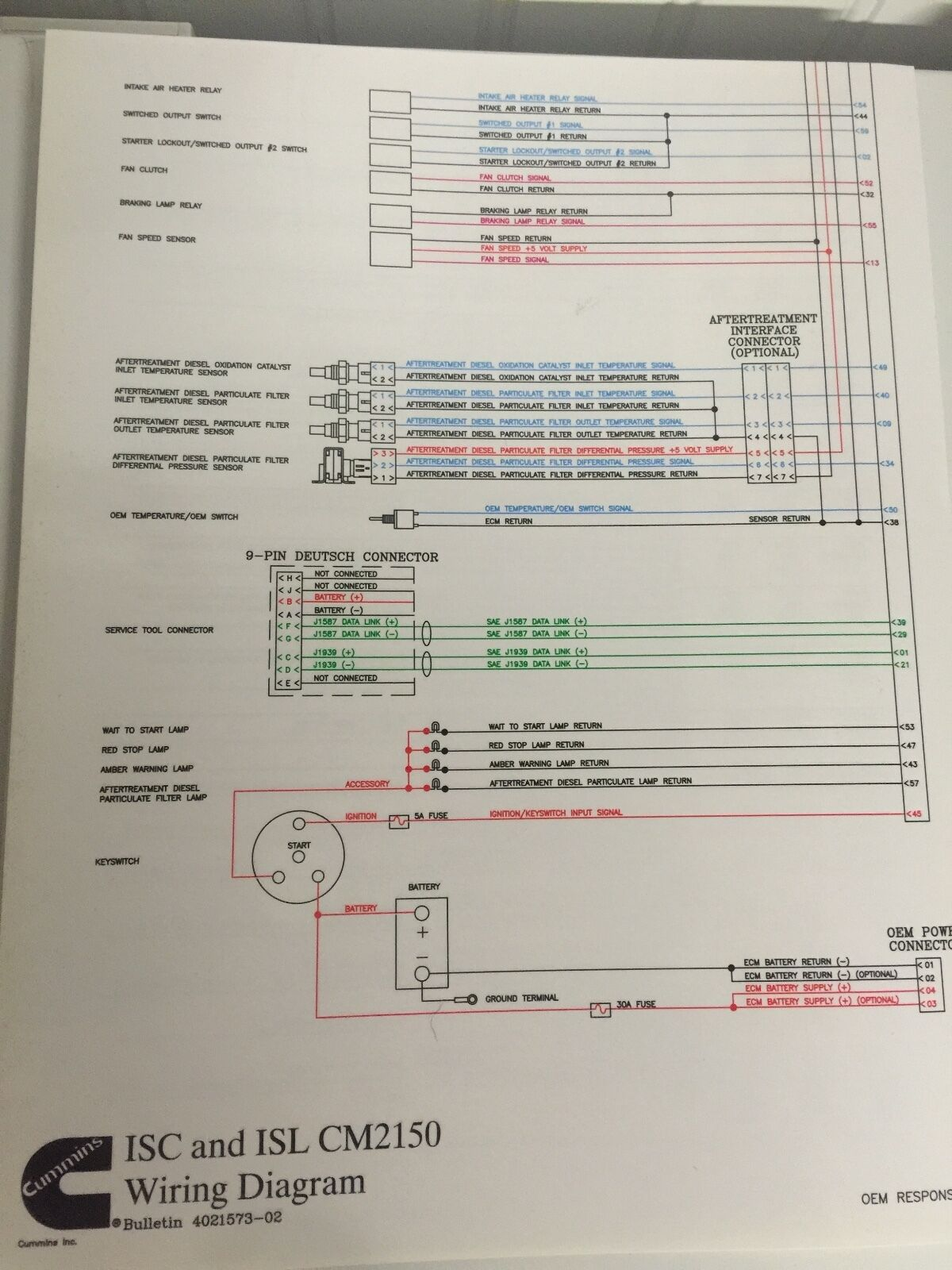 Isc And Isl Cm2150 Wire Diagram Cummins Map 4021573 1099 Picclick J1939 International 4700 Wiring 1 Of 1free Shipping