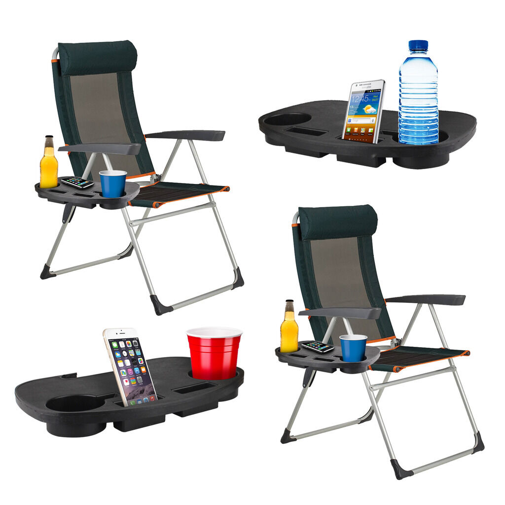 Camping Chair Side Table Clip On Portable Cup Book Holder Outdoor Garden Fishing 1 Sur Voir Plus