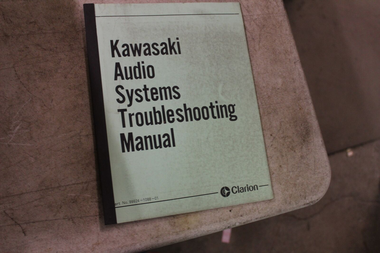 Clarion Kawasaki Voyager Audio Trouble Shooting Manual 99924 1088 01 Zn1300 Wiring Harness 1 Of 1only Available