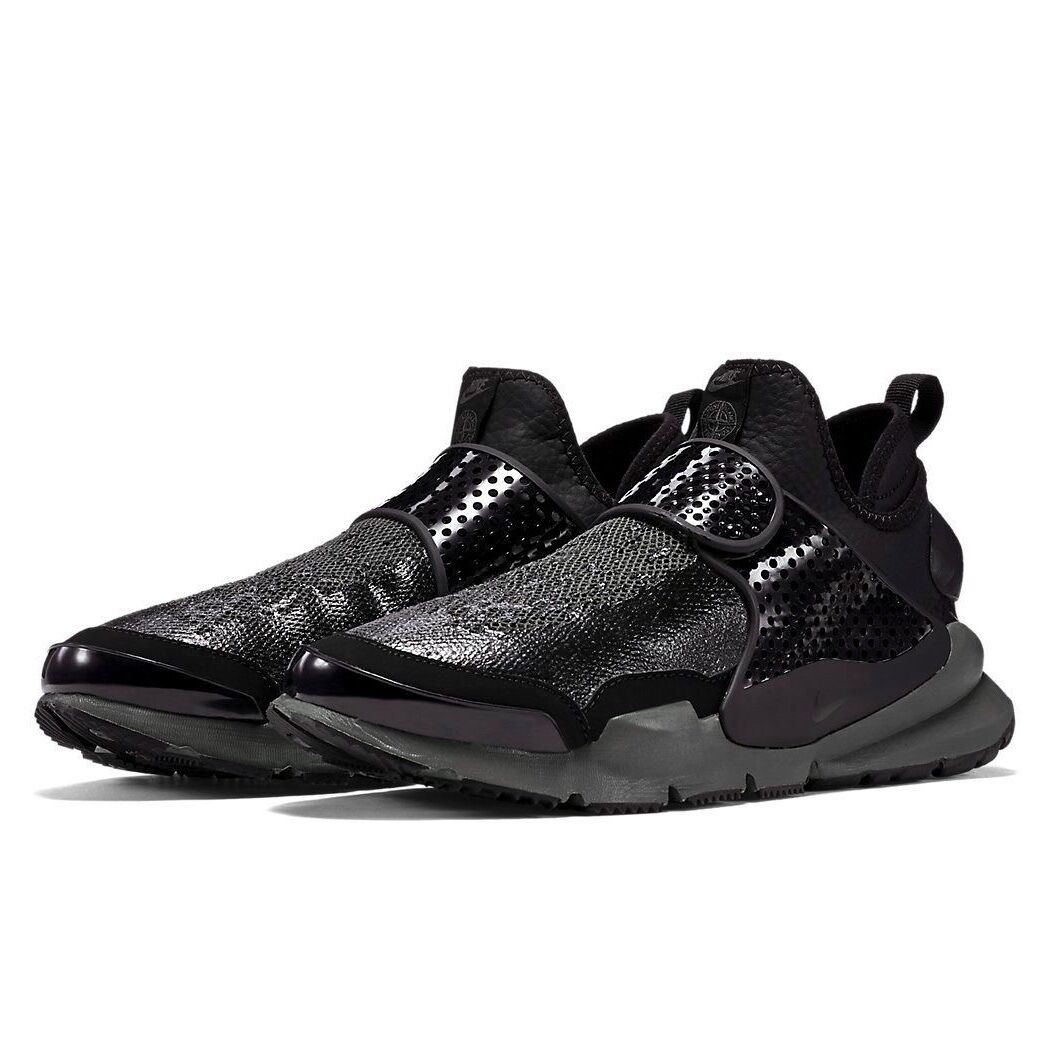 reputable site c61f7 ad063 Nike Lab x Stone Island Sock Dart Mid SP Triple Black Sail Sz 8-10 - 910090  001 1 of 7Only 3 available ...