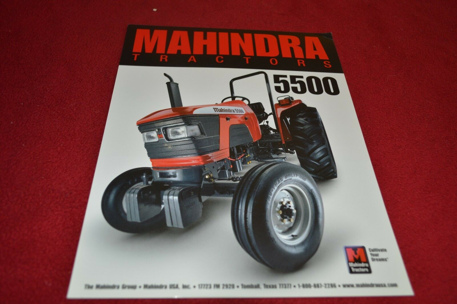 Mahindra 5500 Tractor Dealer's Brochure YABE12 1 of 1Only 1 available ...