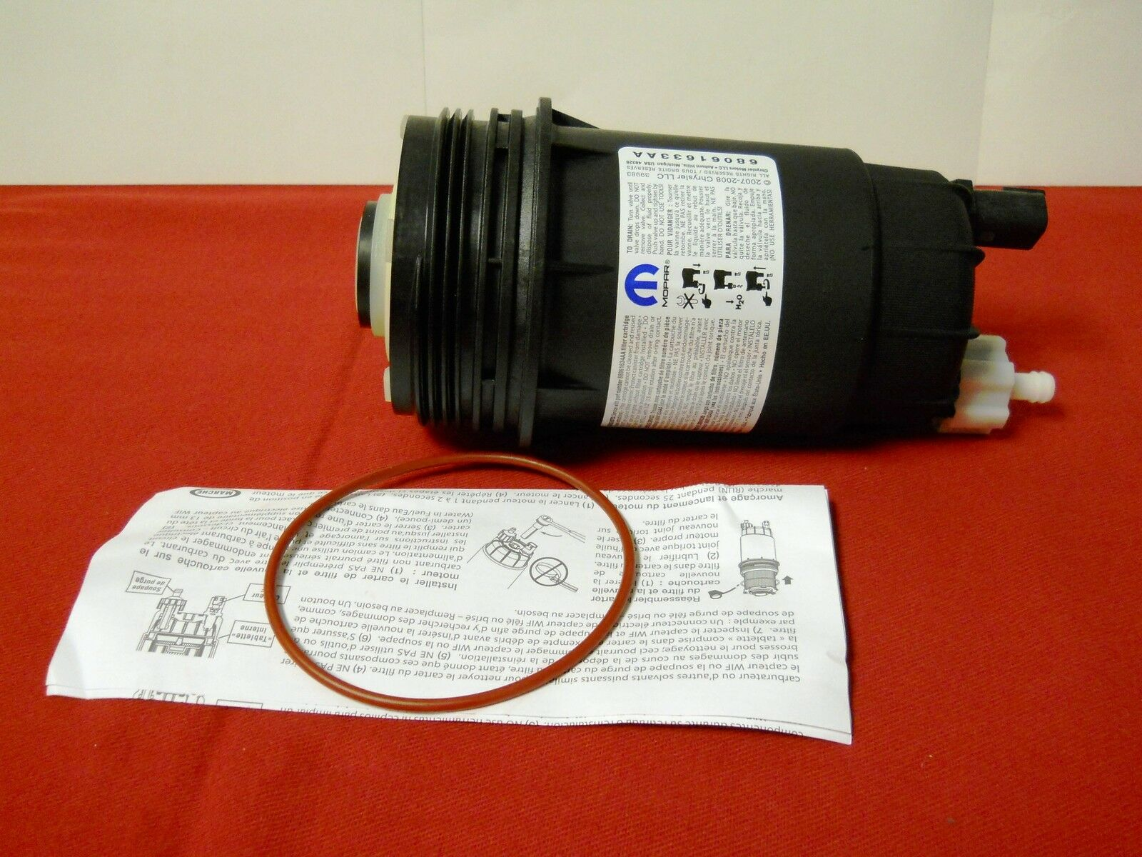 Dodge Ram 67l Cummins Diesel Fuel Filter Canister Housing Assembly 1989 Location Mopar Oem 1 Of 5
