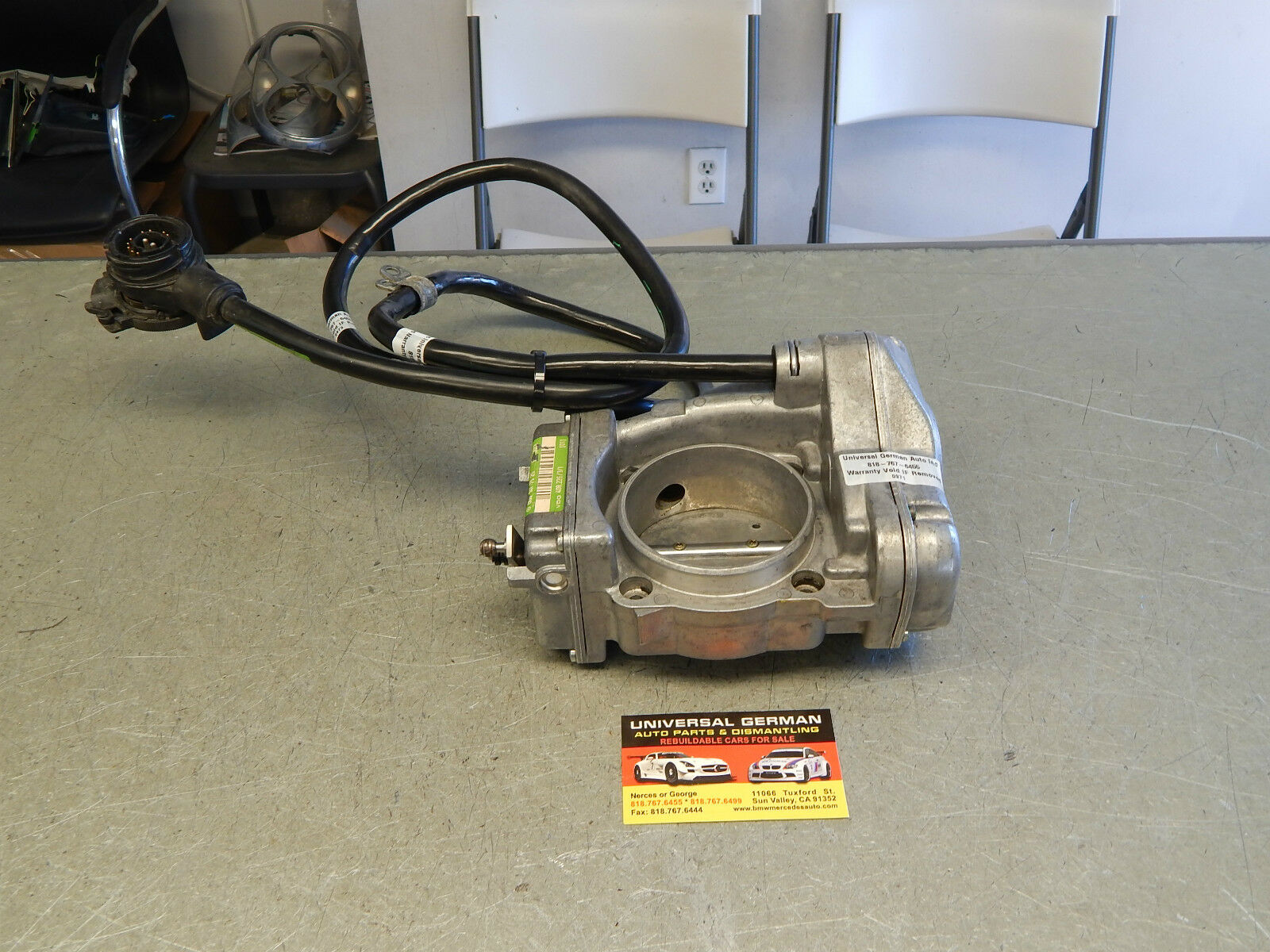 W140 400sel 500sel S500 S420 Throttle Body 0001417525 100 Tested 1993 Mercedesbenz Engine Wiring Harness Genuine 1 Of 8only Available
