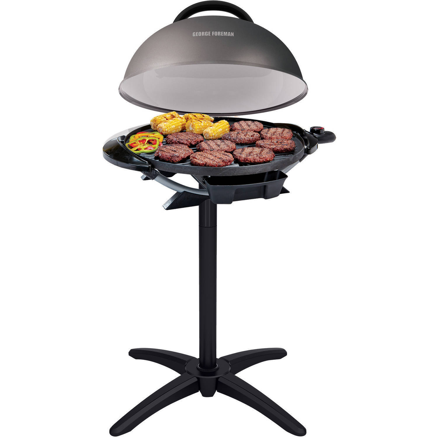 """George Foreman 240"""" Indoor/Outdoor Electric Grill Non-Stick Barbecue BBQ NEW"""