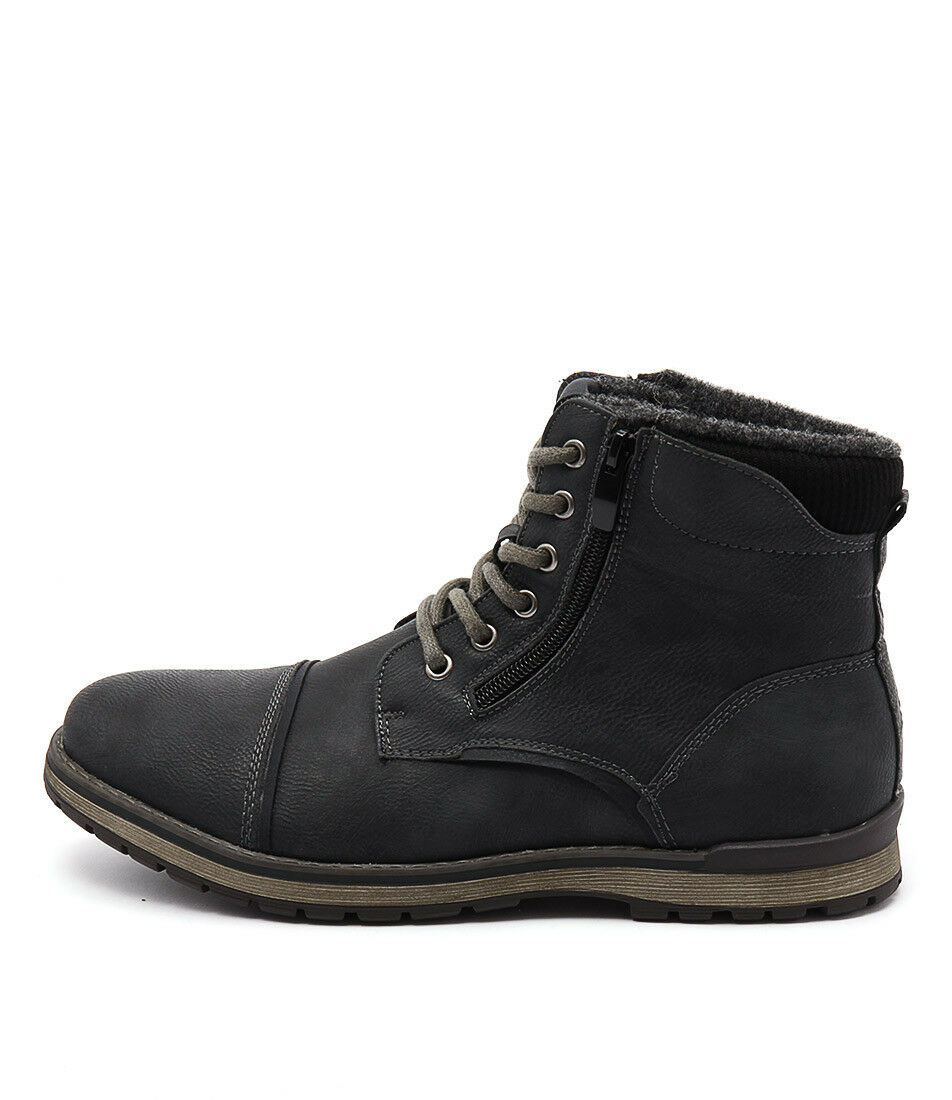 new marlboro black mens shoes casual boots ankle